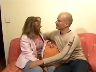 Blonde Cougar Makes Him Jizz Trio Times