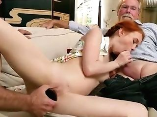 Old Time Antique And Old Man Asian Gal And Old Man Student And Decadent Old