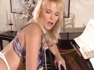 Exotic Blonde, Big Tits Orgy Flick