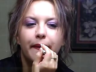 Smoking Makeup For You - Alhana Winter - Antique Rottenstar First-timer Clip