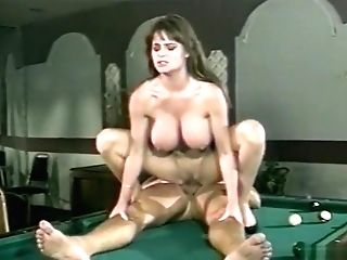 Hot Brown-haired Gets Fucked On Pool Table