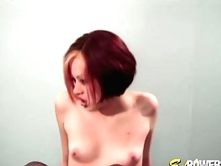 Ginger-haired Teenage Kami Plowed Passionately With Feet In The Air